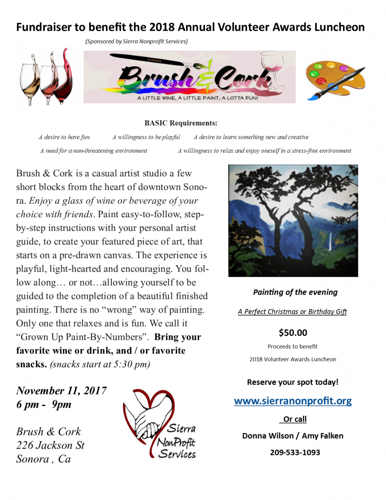 Brush and Cork FUNRaiser! @ Brush and Cork | Sonora | California | United States