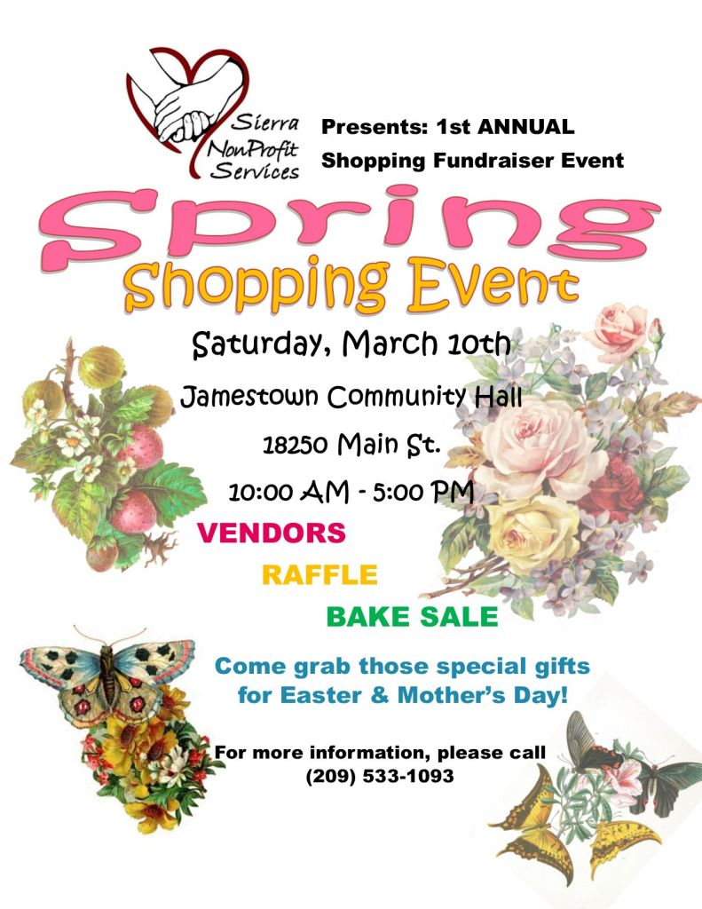 Spring Shopping FUNdraiser! @ Jamestown Community Hall | Jamestown | California | United States