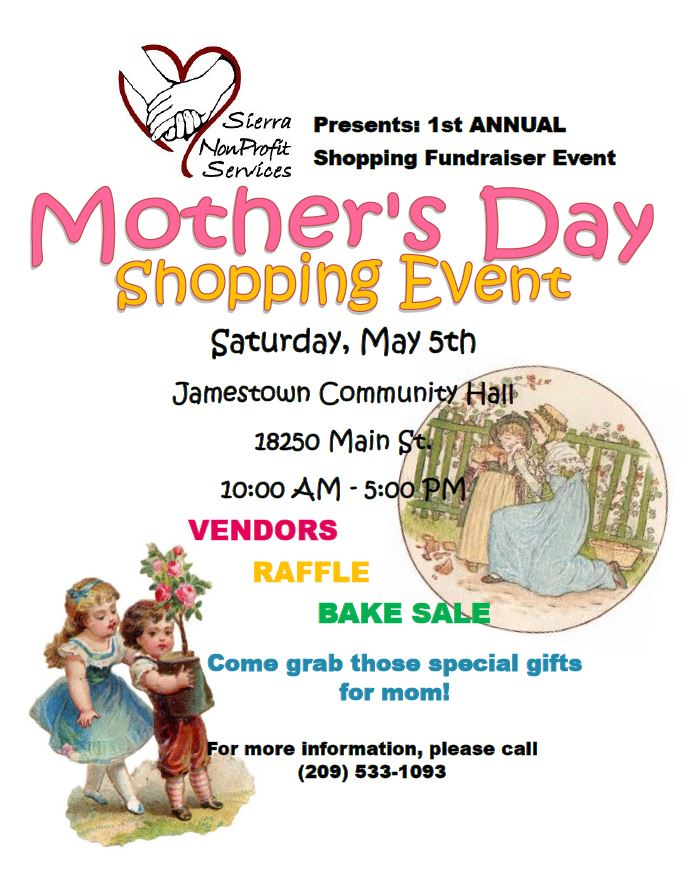 Mothers Day Vendor FUNdraiser Event @ Jamestown Community Hall | Jamestown | California | United States